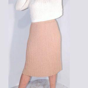 NEW Farm Rio Anthropologie metallic pleat skirt